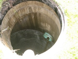 Looking into a drywell